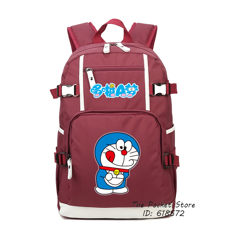 2017 New High Quality Japanese Cartoon Doraemon Backpack Kawaii Printing Backpack Canvas School Bags for Girls Women Backpack