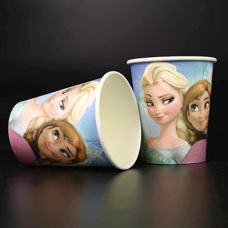 Disney Congelado Tema Fontes Do Partido Decoração Do Partido 10pcs Louça Descartável One-off De Copos De Papel Copo Copos