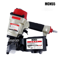 MCN55 Pneumatic Nail Gun Air Nailer Gun Pneumatic Nailer Woodworking Air Stapler Pneumatic Coil Nailer Nail Gun Air Tool