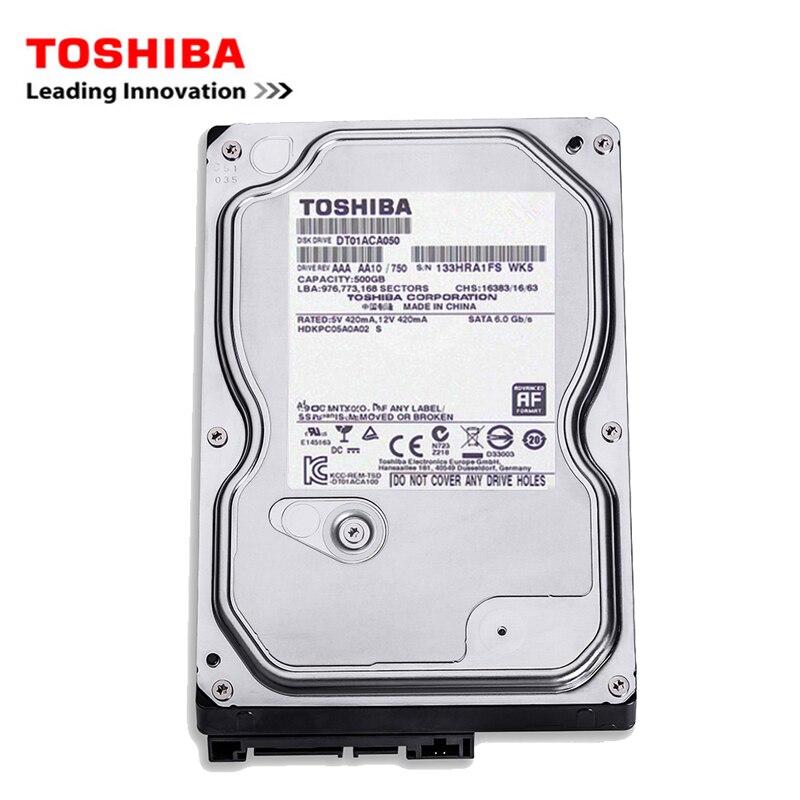 Toshiba marque 500 GB ordinateur de bureau 3.5 interne mécanique disque dur SATA2-SATA3 3 Gb-6 Gb/s disque dur 500 GB 7200 RPM tampon