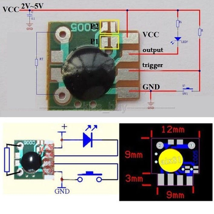 5pcs Multifunction Delay Trigger Timing Chip Mudule Timer Ic Timing 2s 1000h