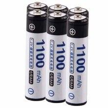 Низкая цена 6 шт. AAA батарея 1,2 В батареи перезаряжаемые 1100 мАч nimh для механические инструменты akkumulator
