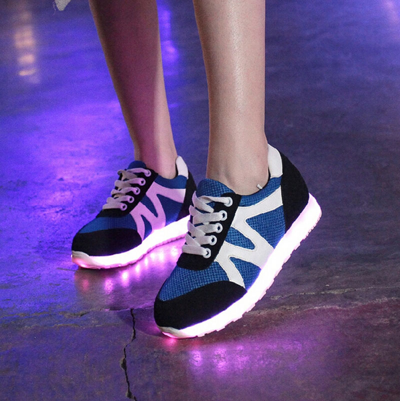 Men's Shoes Led Shoes Men Nice Fashion Causal Led Luminous Shoes Lovers Fashion Basket Led Light Up Shoes For Adults Men Shoes 7c11