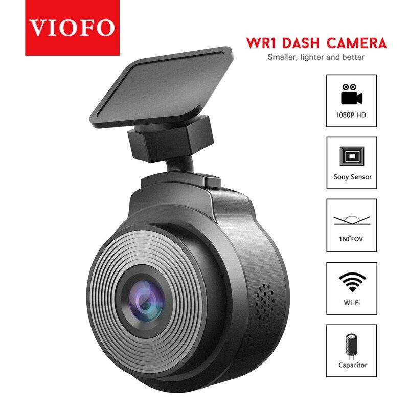 VIOFO WR1 конденсатор с алюминиевой крышкой, Wi-Fi, Автомобильный видеорегистратор Камера DVR Регистраторы Full HD 1080P 30fps чип Novatek 160 градусов с цикличе...
