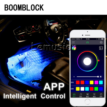 BOOMBLOCK Car Atmosphere Lamp For Android iOS APP Control For BMW E46 E39 E60 E36 E90 F30 F10 E34 E53 F20 E30 X5 E53 Accessories image