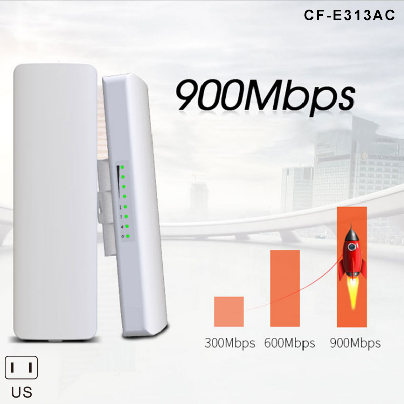Newly 900Mbps 5.8G Outdoor Wireless Bridge High Power 5KM WIFI CPE Access Point DC128