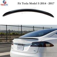 OEM Style Rear Trunk Wing for Tesla Model S 5 door Liftback 2014 2017 Boot Lid Tail Spoiler Carbon Fiber Boot Spoiler