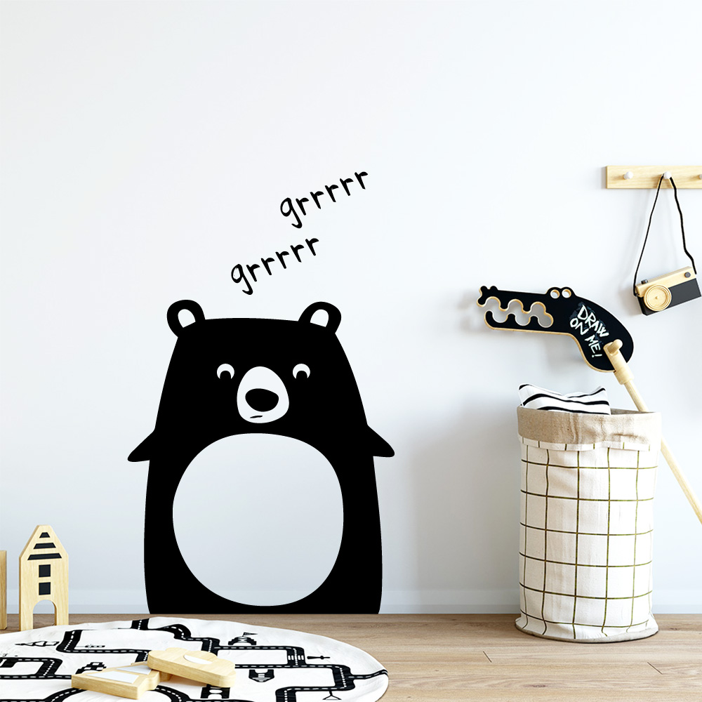 Cute Bear Wallstickers Removable Wall Stickers Wallpaper For Baby'S Rooms Boys Bedroom Decor Wall Decoration Mural