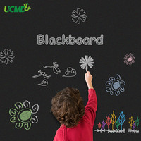 Magnetic Chalk Board 100 x 50cm Self adhesive BlackBoard Wall Sticker Holding Magnets for Kids Writing Drawing Graffiti Learning