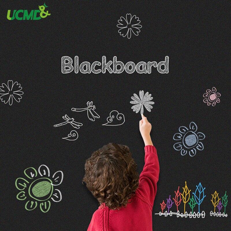 Tableau de craie magnétique 100x50 cm avec bâton autocollant sur mur tenant des aimants pour enfants dessin Doodle apprentissage