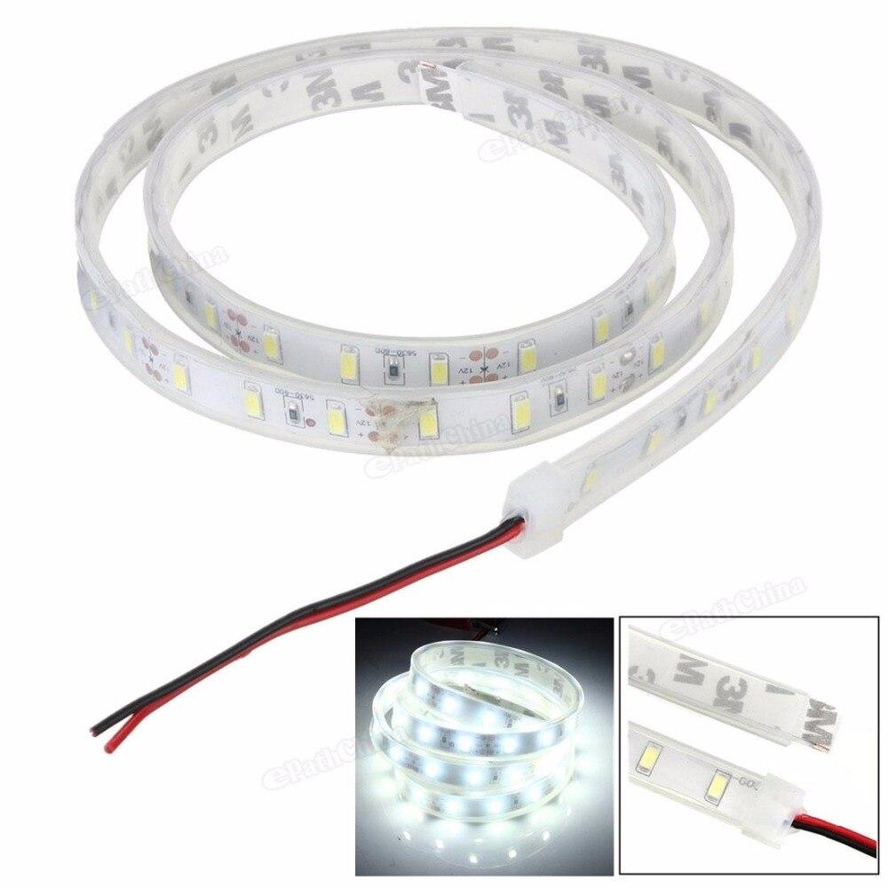 Водонепроницаемый IP65 1 м 5630 SMD 60 Светодиодный силиконовые полосы света холодный белый 12 В