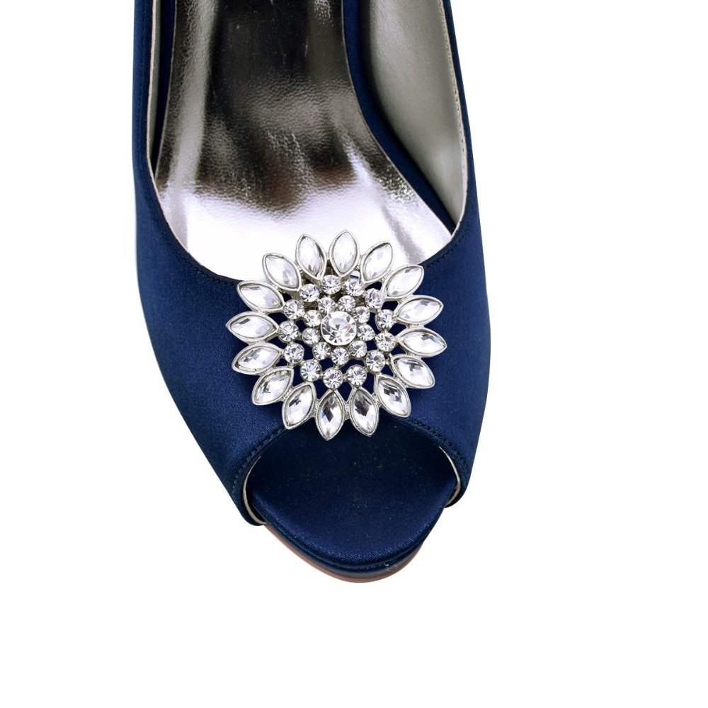 ff71fe3e7a97d US $22.99 |Women fashion Wedding Accessories Rhinestones Pearls Girls  Mother Lover Gift Handbag Dress Hat Shoes Clips AE Silver Gold-in Women's  Pumps ...