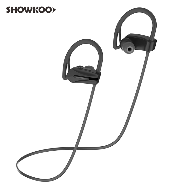 Showkoo Fone De Ouvido Bluetooth Handsfree Sport Wireless Earphone Bass Headphone with Microphone Waterproof IPX7 Stereo Headset remax bluetooth v4 1 wireless stereo foldable handsfree music earphone for iphone 7 8 samsung galaxy rb 200hb