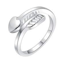 open shiny elegant Silver plated Ring Fashion Jewerly Ring Women&Men , /KUOQUSUT NZPBZKHO
