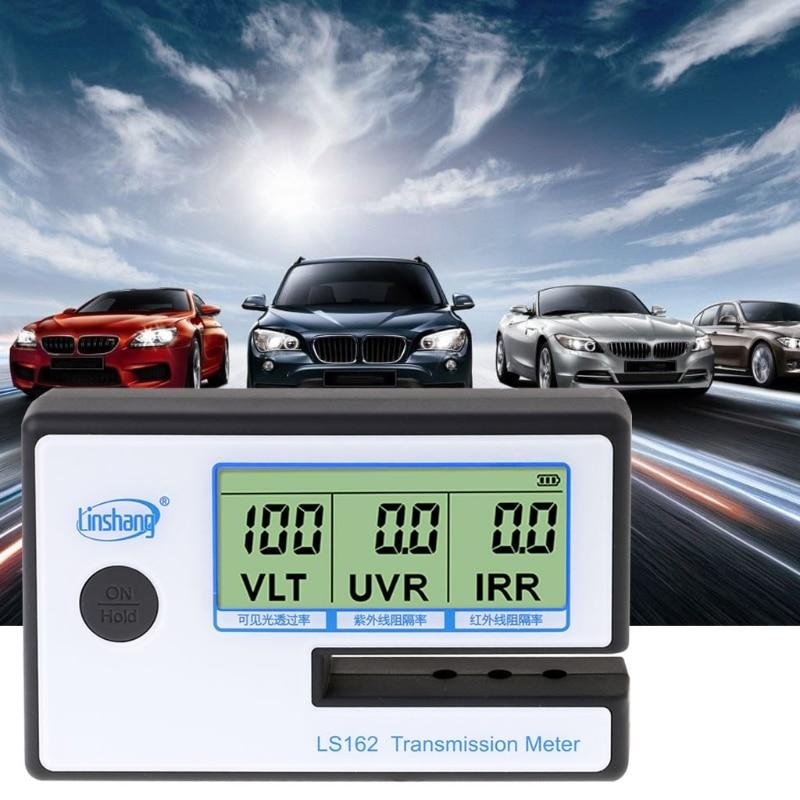 LS162 compteur de teinte de fenêtre compteur de Transmission de Film solaire VLT UV testeur de rejet IR X7YD