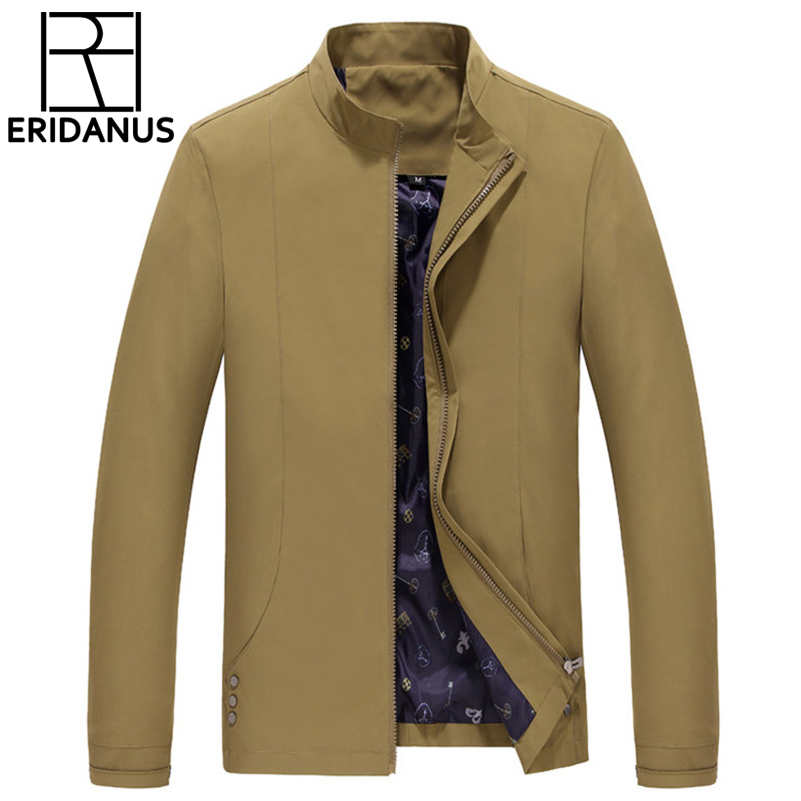 2017 New Men Fashion Casual Sportswear Jacket Simple Design Business British Style Mens Jacket Zipper Khaki Tide wild Coats M371