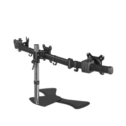 triple screen 27inch lcd tv table mount monitor desk three support Led bracket lcd holder