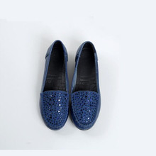 2019 new retro fashion flat womens shoes spring autumn big size of a pedal genuine leather hot sale diamond casual