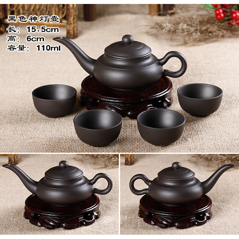 Promotion 1 Teapot and 4 Cups 24 styles Yixing Handpainted Zhu Mud Teapot West Pot Filter