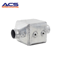 AUTOREFITTING Universal Core Size 220x246x228mm 4 Inch Aluminum Bar And Plate Turbo Front Mount Water To Air Intercooler
