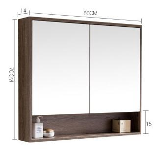 The bathroom mirror cabinet. Hang wall. Type shelf hanging the bathroom lens case. цена
