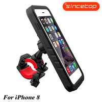 Bike Motorcycle Rack Handlebar Motorcycle Holder Cradle Bicycle Mount For IPhone 8 Waterproof Case With 360