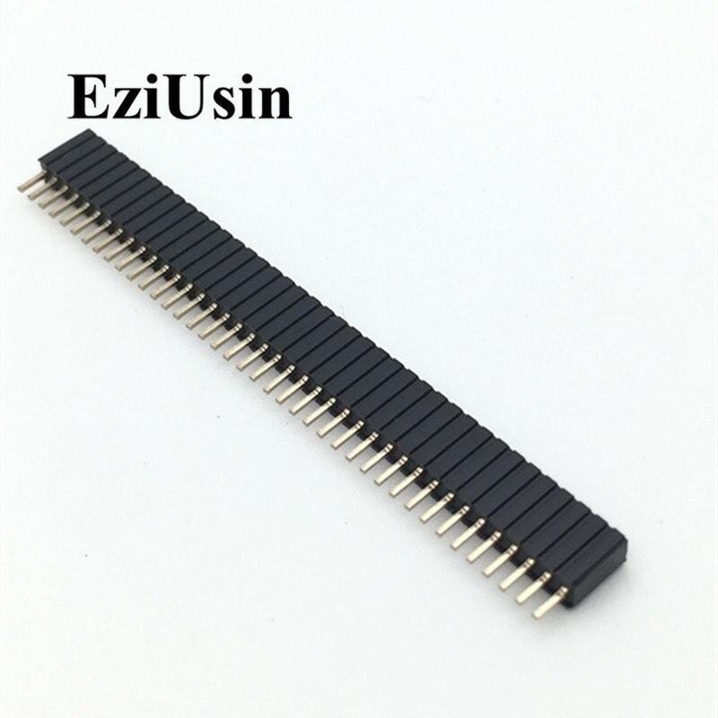 1.27mm 1.27 Pin Header Single Row Female Breakaway PCB Board  Connector Pinheader 1*40P 1*50P DIP Plastic Height 4.3mm 4.6mm