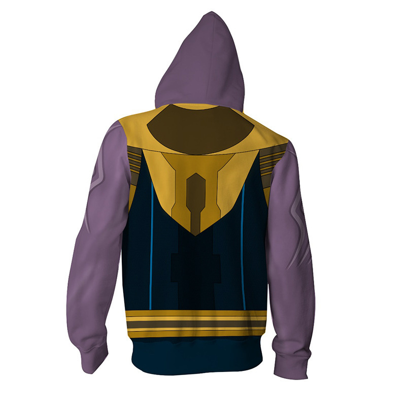 Avengers Endgame Thanos Cosplay Movie Hoodie Costume Sweatshirt Jacket Coats Men and Women Hot in Movie TV costumes from Novelty Special Use