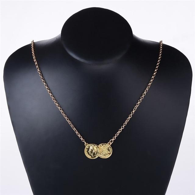 3c46c83b1 Medalha/Moeda/Tesoura Pingente de Colar Antigo Estilo Vintage Ouro/Prata  Colar de