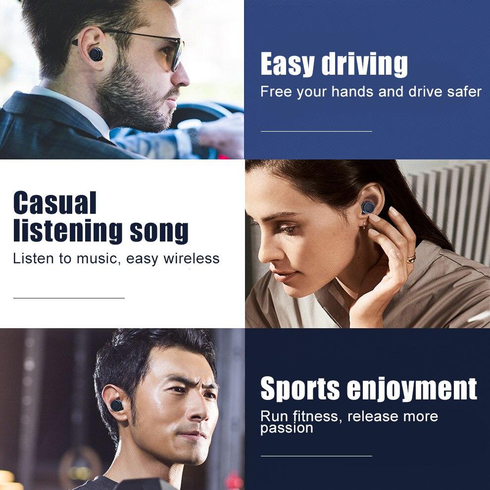 TOMKAS Wireless Headphones Tws Bluetooth Earphones True Stereo Earbuds Sport Headset with 2000mAh Power Bank for iPhone Xiaomi (10)