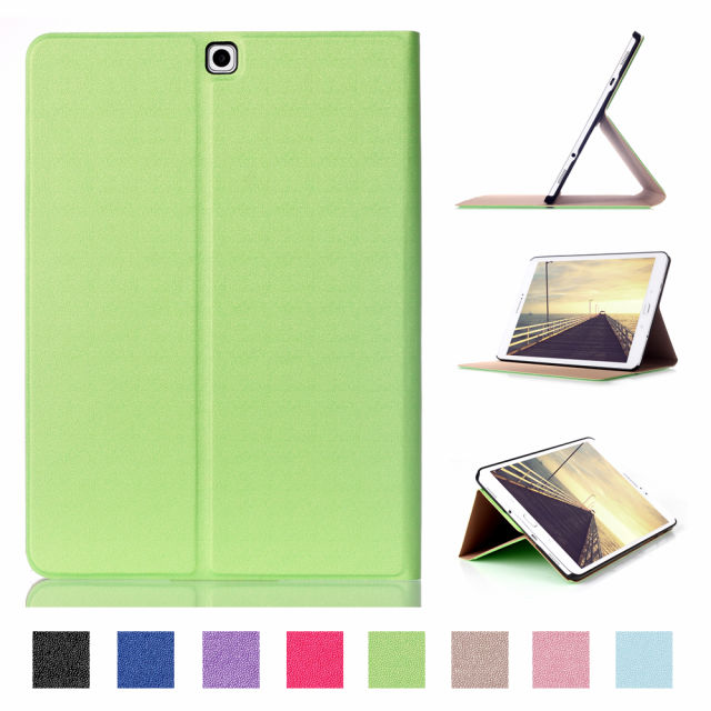 Tab S2 9.7 Cover Case Folding Flip PU Leather Case For Samsung Galaxy Tab S2 9.7 T810 T815 Tablet PC + Screen film as gift