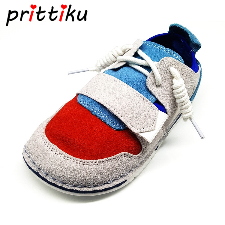 Kids Boys Girls Casual Shoes Genuine Leather Elastic Soft Sole Hook & Loop Sneakers Sports School Shoes(Toddler/Little Kid)