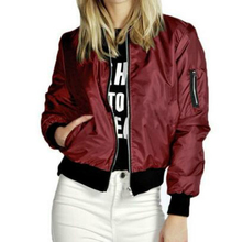 CUHAKCI Winter Jackets For Women Fashion Coats New AutumnThin Long Sleeve Zipper