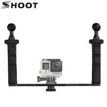 Liga de alumínio handheld estabilizador de montagem para gopro 5 à prova d' água 4 3 xiaomi yi 4 k sjcam sj4000 tripé para nikon camera