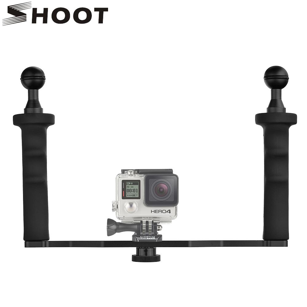 Prix pour En aluminium Étanche En Alliage De Poche Stabilisateur Montage pour GoPro 5 4 3 Xiaomi yi 4 K SJCAM SJ4000 Trépied pour Nikon Caméra