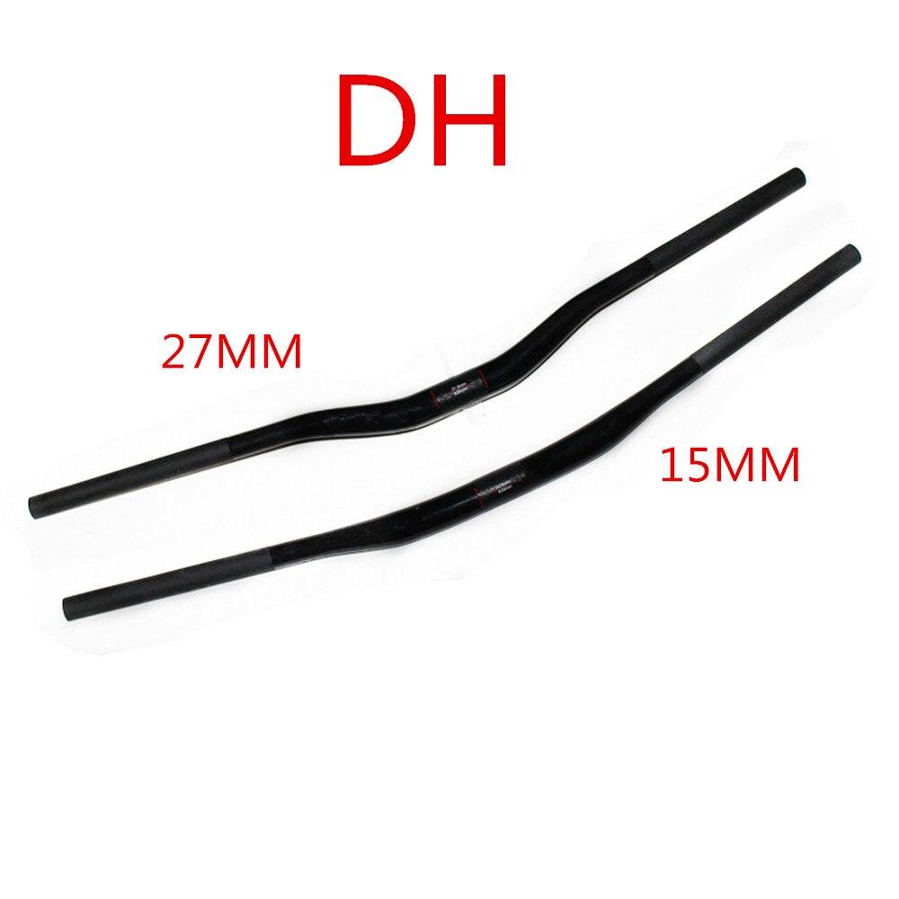 Pleine fiber de carbone vtt guidon yanerwo utilisé DH VTT guidon de carbone poignée 750mm/820mm
