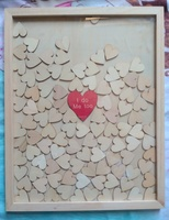 guestbook alternative Personalised wood Heart Guest book Drop box Signature book wedding decoration