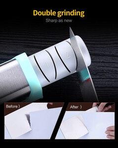 Image 4 - XYj Per Affilare I Coltelli Elettrica Diamante & Ceramica Coltello Da Cucina Temperamatite 2 Fase Smerigliatrice Affilatura Ceramica Per Affilare Spina di UE