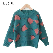 LILIGIRL Baby Girls Kint Sweater Long Sleeve Embroidery Boys Pullover Sweaters for Autumn Winter Children Tops Clothes children autumn and winter warm clothes boys and girls thick cashmere sweaters