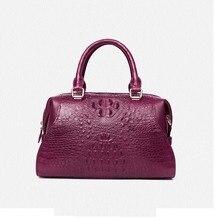 цена на gete 2019 new Import crocodile skin  ladies genuine leather handbag cross body  crocodile skin bag for women  pillow pack