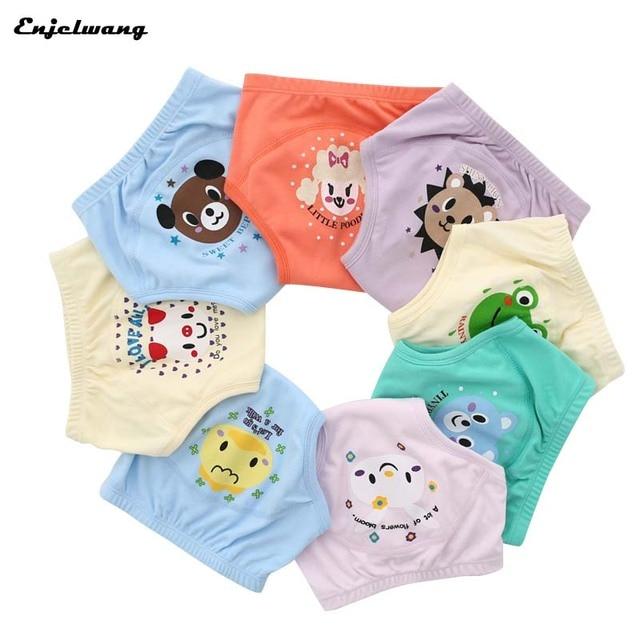 8 unids/lote cuatro capas de baño de entrenamiento para bebé reutilizable impermeable niño pañales Panties niño niña calzoncillos cortos Cow