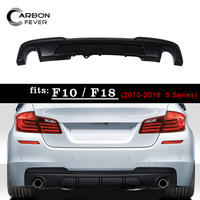 Для BMW 5 серии F10 F18 задняя часть протектор ПП бампера для губ один выход диффузор