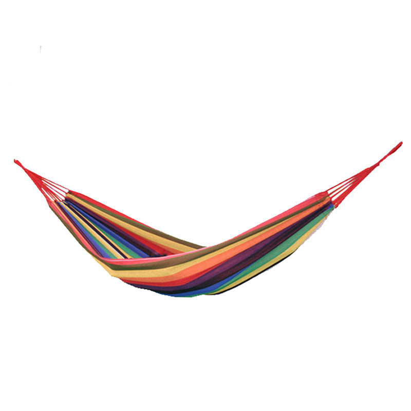 Outdoor recreational hammock widening thickening canvas single  indoor Park Camping adults hanging swing patio furniture