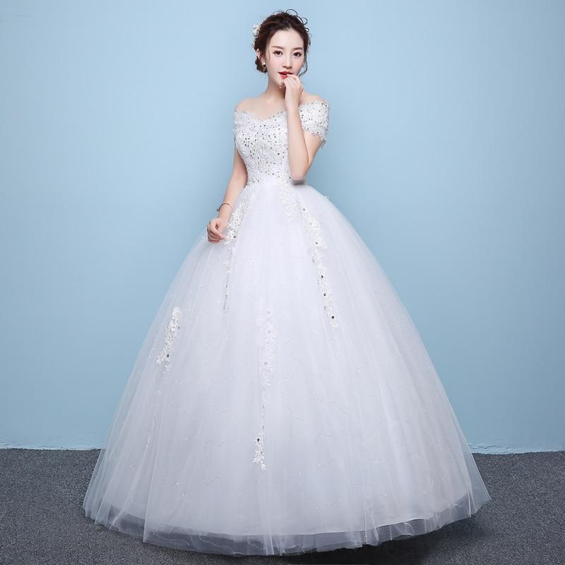 LAMYA Vintage Lace V Neck Wedding Gown Princess 2018 Bridal Dress ...