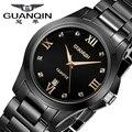 Ceramic GUANQIN Watch Men Quartz  Watches 2016 Men Famous Brand Watch Style Waterproof Black Clock Men Ceramic Watches