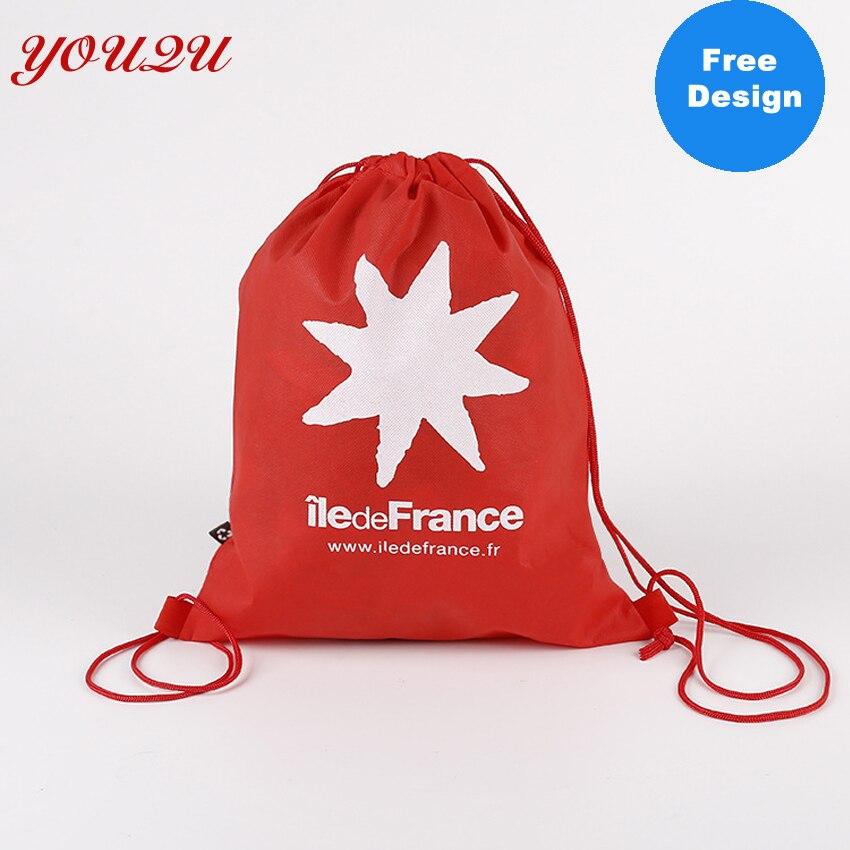 Custom Non Woven Fabric Buggy Bag Storage Bag Drawstring Bag costom logo accepted and free design