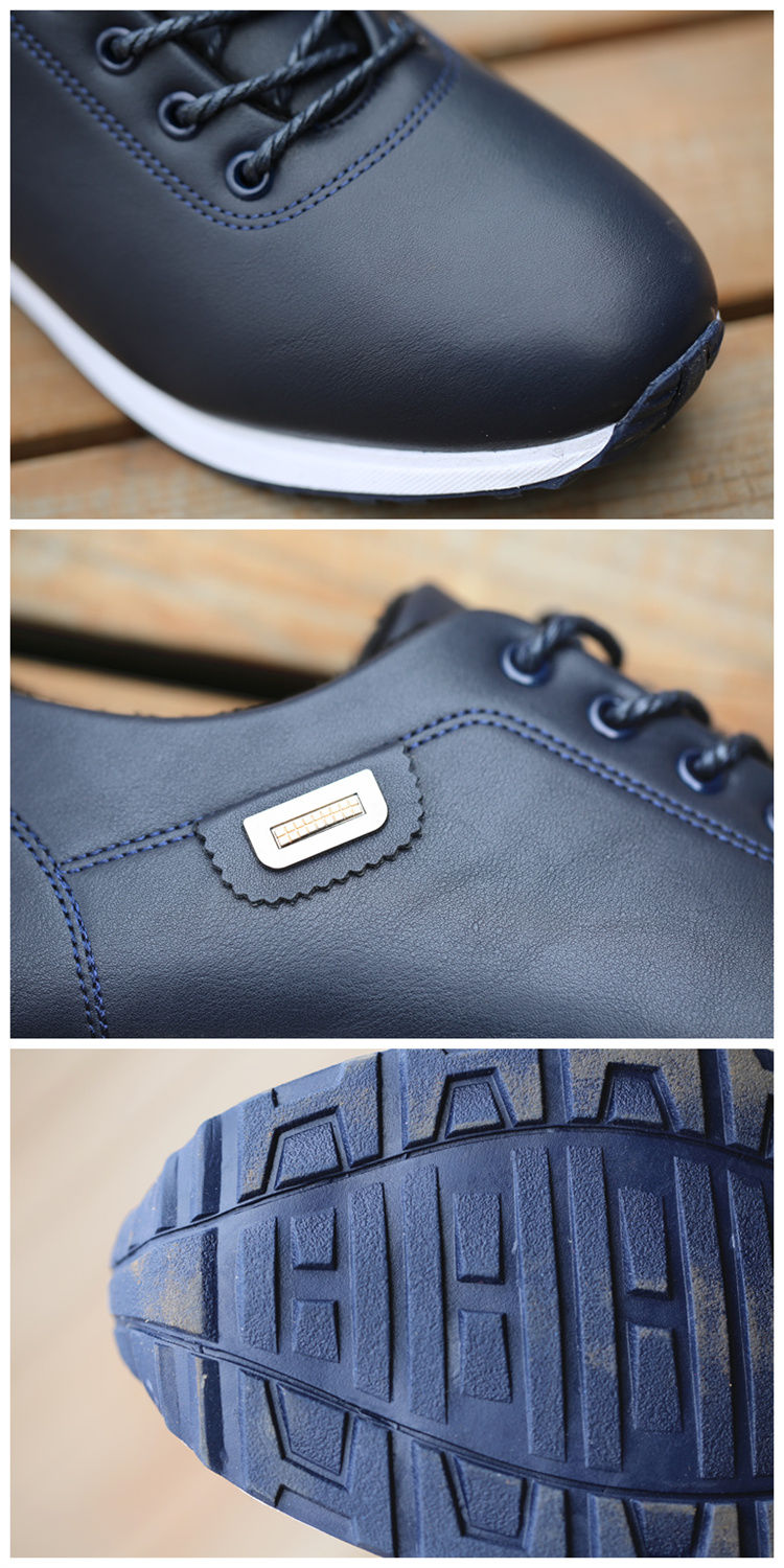 Men's PU Leather Business Casual Shoes for Man Outdoor Breathable Sneakers Male Fashion Loafers Walking Footwear Tenis Feminino