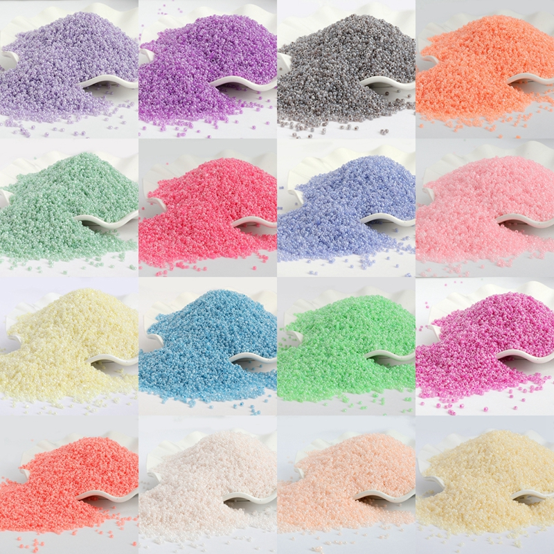 1000pcs/lot 2MM Candy Cream Color Czech Glass Sand DIY Beads Round Hole Beads For Kids Handmade Jewelry Making Fit 15g/lot(China)