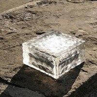 LED Underground Lamp Deck Light ,4-LEDS Solar Ice Cube Path Recessed led Floor Lights