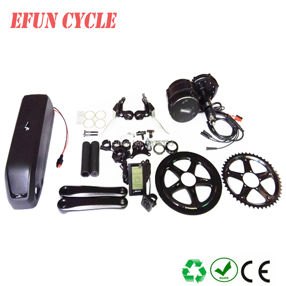 Free shipping to EU Bafang BBS01 36V 350W mid motor kits with 36V 13Ah Hailong down tube battery for fat tire bike/city bike